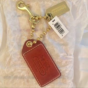 Coach Leather Keychain / Bag Charm NWT